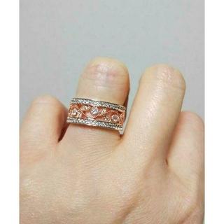 宝石ジルコン ミル打ち透し彫り リング(リング(指輪))