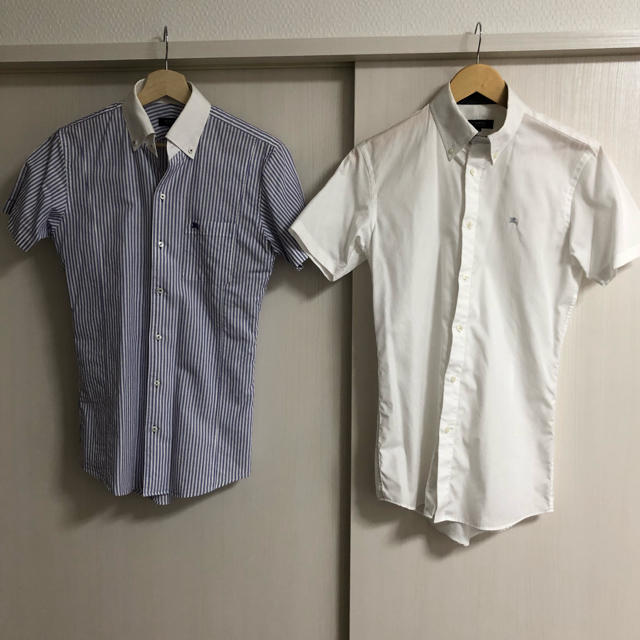 BURBERRY BLACK LABEL(バーバリーブラックレーベル)のバーバリーブラックレーベル ワイシャツ 半袖 2着 美品 メンズのトップス(シャツ)の商品写真