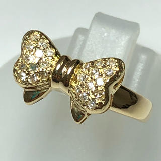 リング ダイヤモンド k18yg 18金 イエローゴールド ダイヤリング  指輪(リング(指輪))