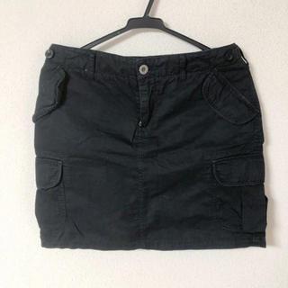 LOWRYS FARM 黒 ミニタイトスカート