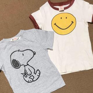 マーキーズ(MARKEY'S)のデニム&ダンガリーニコちゃんスマイルTシャツスヌーピー120おまけ2枚セット(Tシャツ/カットソー)