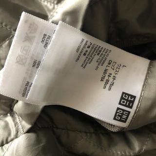 ユニクロ(UNIQLO)の美品 ユニクロ キルティング スカート 巻きスカート カーキ リバーシブル(ひざ丈スカート)