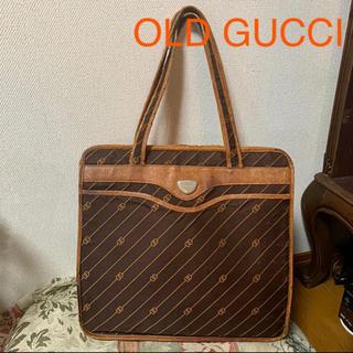 グッチ(Gucci)のOLD GUCCI 希少 A4トートバッグ ピンストライプ柄 キャンバス生地(トートバッグ)