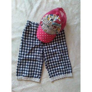 ビケット(Biquette)の[美品]ビケットパンツ130+帽子52cm(パンツ/スパッツ)