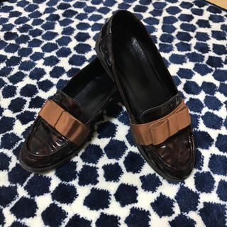ディエゴベリーニ(DIEGO BELLINI)のジャンク品★Diego Bellini リボンローファー 37サイズ(ローファー/革靴)
