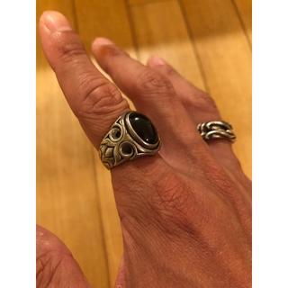 シルバーリング オニキス パワーストーン(リング(指輪))