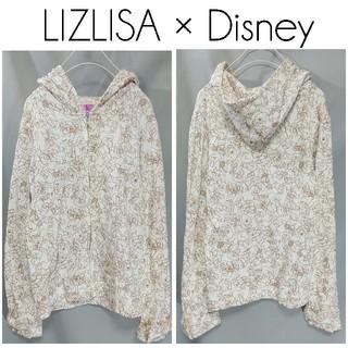 リズリサ(LIZ LISA)のリズリサ ディズニー 白雪姫 七人の小人 総柄 パーカー 白 長袖 レディース(パーカー)