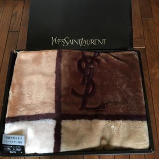 イヴサンローランボーテ(Yves Saint Laurent Beaute)のイヴサンローラン アクリル毛布 新品未使用(毛布)
