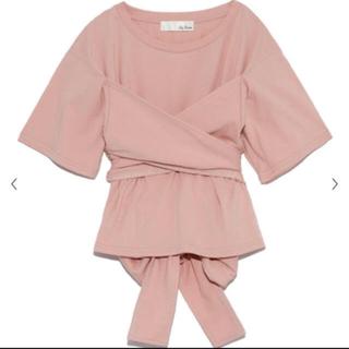 リリーブラウン(Lily Brown)のリリーブラウン のバックリボン刺繍Tシャツ ピンク(Tシャツ(半袖/袖なし))