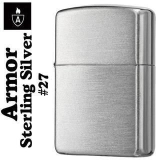 ジッポー(ZIPPO)のzippo ジッポ アーマースターリングシルバー純銀NO.27 サテン仕上げ(タバコグッズ)