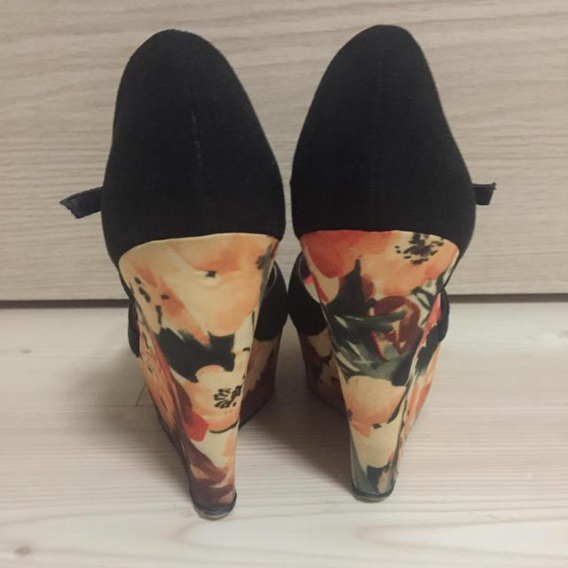 FOREVER 21(フォーエバートゥエンティーワン)のforever21 プリントウェッジサンダル オレンジ ブラック  レディースの靴/シューズ(サンダル)の商品写真