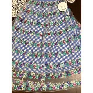 チェスティ(Chesty)のチェスティのフラワーボーダーチュールスカート☆サイズ0☆ルネ好きの方にも(ロングスカート)