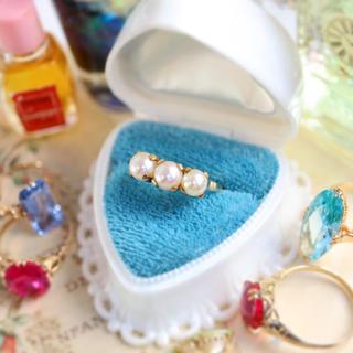 アリエル様専用💓2点お纏めページ🌟アコヤ真珠♡3つ子パールの水玉みたいな指輪(リング(指輪))