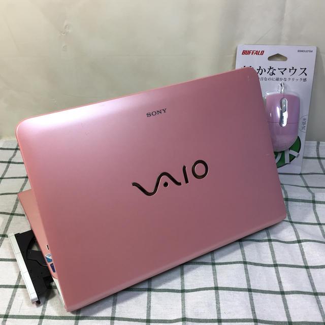 SONY(ソニー)のSONY VAIO ピンク windows10 office2016 スマホ/家電/カメラのPC/タブレット(ノートPC)の商品写真