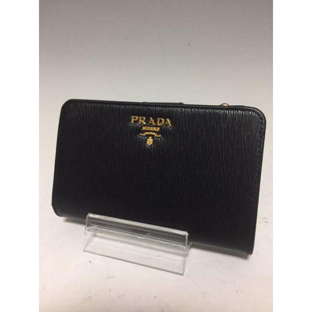 PRADA 未使用 黒 サフィアーノ 二つ折り財布 L字ファスナー プラダの通販 by トルヲ's shop|ラクマ