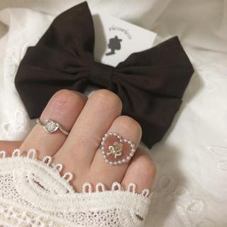 ぷっくりハート リング 指輪 ハンドメイド ヴィンテージ アンティーク レトロ(リング(指輪))