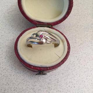 ルビー入りシルバーリング 美品(リング(指輪))