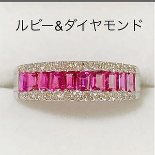 レッド様専用  プラチナ ルビー&ダイヤモンド リング(リング(指輪))