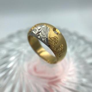 K18Pt900 ダイヤモンド リング D0.05ct 19-5954(リング(指輪))
