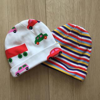 マリメッコ(marimekko)のマリメッコ  新生児 帽子 キャップ 新品 2枚組(帽子)