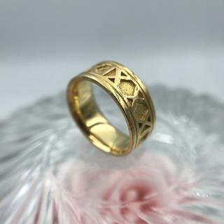 K18 ゴールド ローマ文字 リング 19-3084(リング(指輪))
