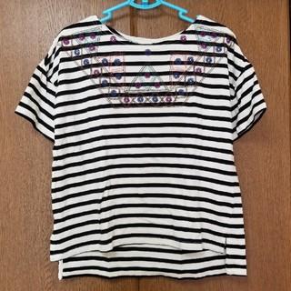 キューブシュガー(CUBE SUGAR)のキューブシュガーカットソー(ブラック)(Tシャツ(半袖/袖なし))