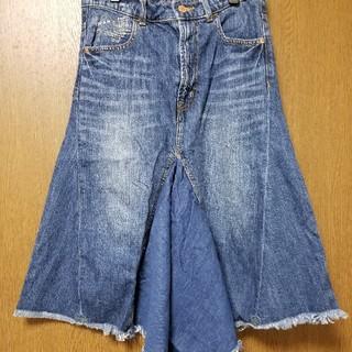 キューブシュガー(CUBE SUGAR)のキューブシュガーデニムスカート(ひざ丈スカート)