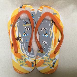 アナスイ(ANNA SUI)のアナスイ ビーチサンダル オレンジ (S) 約23cm(ビーチサンダル)