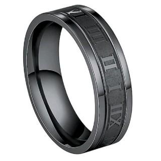 ギリシャ文字 ブラックリング16号 ステンレス銅(リング(指輪))