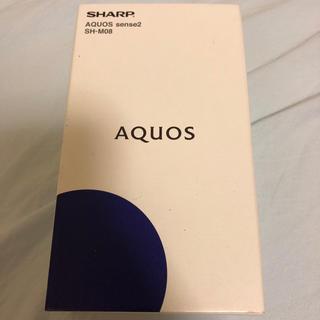 アクオス(AQUOS)の5台 AQUOS sense2 新品未使用 ブラック SIMフリー (スマートフォン本体)