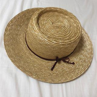 リリーブラウン(Lily Brown)の麦わら帽子 ベロアリボン(麦わら帽子/ストローハット)