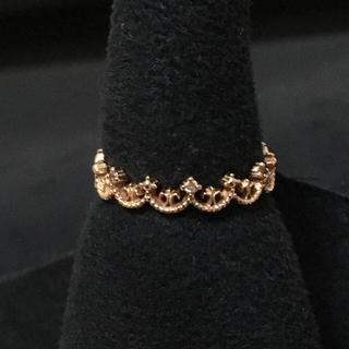 アルページュ  k10 ピンクゴールド ダイヤ リング(リング(指輪))