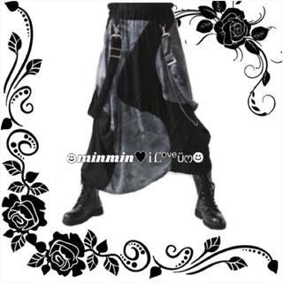 ファンキーフルーツ(FUNKY FRUIT)の【Drug】グランジ切替え×サス&チェーン付き変形ロングスカート(ロングスカート)