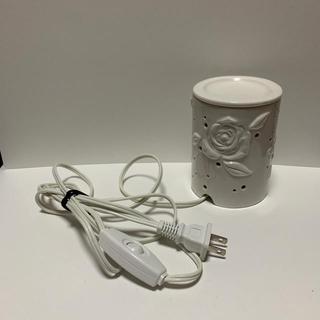 セイカツノキ(生活の木)のアロマランプ バラ ホワイト 陶器(アロマポット/アロマランプ/芳香器)