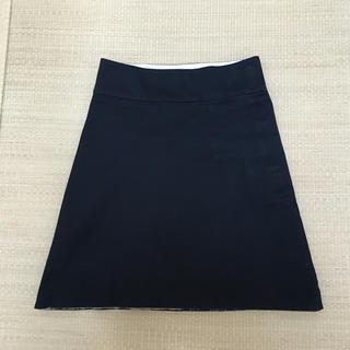 ツモリチサト(TSUMORI CHISATO)のTUMORI CHISATO 黒の台形スカート(ひざ丈スカート)