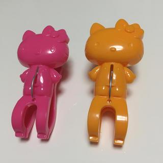 サンリオ(サンリオ)のキティ 洗濯ばさみ 赤とオレンジ(キャラクターグッズ)