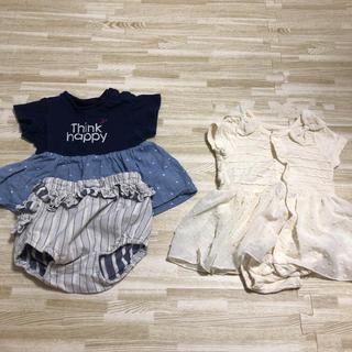 ブリーズ(BREEZE)のベビー服 夏服 ロンパース  ワンピース 70 まとめ売り 2枚セット 新生児(ワンピース)