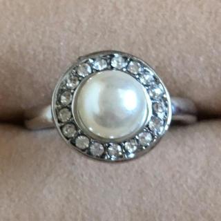 (48)一粒パールのファッションリング シルバー(リング(指輪))