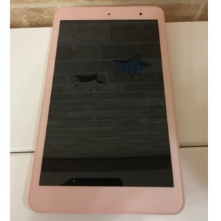 キョウセラ(京セラ)の防水防塵 京セラ Qua tab KYT31 8コア 8インチタブレット ピンク(タブレット)