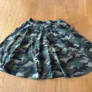 ウィゴー(WEGO)の迷彩柄 スカート(ひざ丈スカート)