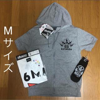 シマムラ(しまむら)の新品 96猫 ジップパーカー &Tシャツ&靴下 3点セット M しまむら 限定品(ミュージシャン)