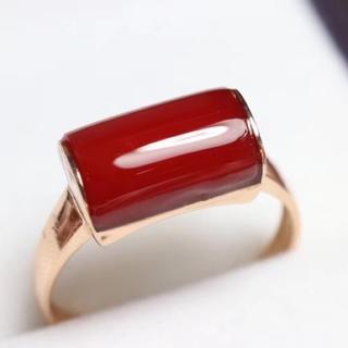 【高級】赤サンゴ リング k18 ダイヤ(リング(指輪))