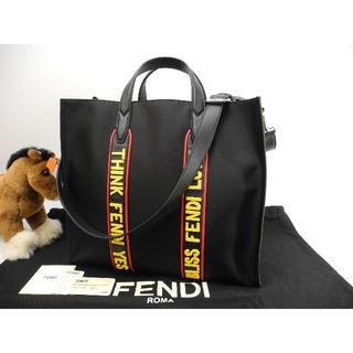 フェンディ(FENDI)のフェンディ トートバッグ大 ボキャブラリーLove 黒 メンズハンドバッグ未使用(トートバッグ)