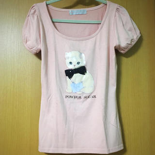 POWDER SUGAR - カットソー Tシャツ 猫