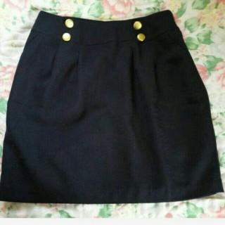 ベルメゾン(ベルメゾン)のベルメゾン 紺色 L 新品(ひざ丈スカート)