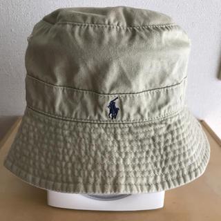ポロラルフローレン(POLO RALPH LAUREN)の美品♪ラルフローレン チノ ワンポイントコットン帽子ハット52cmベージュカーキ(帽子)