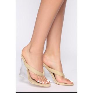 イエローブーツ(Yellow boots)の最終値下げ!fashion nova ファッションノバ /クリアヒール サンダル(サンダル)