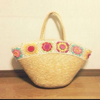 サンカンシオン(3can4on)のカゴバッグ 刺繍(トートバッグ)