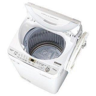 SHARP - ⭕️設置サービス無料⭕️全自動洗濯機 幅56.5cm 7kg ステンレス穴なし槽