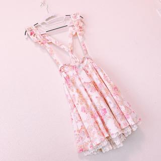 リズリサ(LIZ LISA)の新品未使用LIZ LISA 花柄2wayスカート(ひざ丈スカート)
